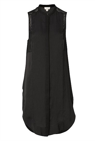Sleeveless Button Through Dress, now that's ideal could go casual with a floppy hat, sandals and boho bangles, or super sleek with slicked back hair, metallic makeup - sky high gold heels and a little gold clutch. Ah witchery, you've done it again #witcherywishlist #hollygolightly