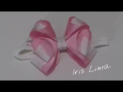 Como fazer laços mil faces aumentando a largura da fita Diy ,Tutorial ,Pap By Iris Lima - YouTube