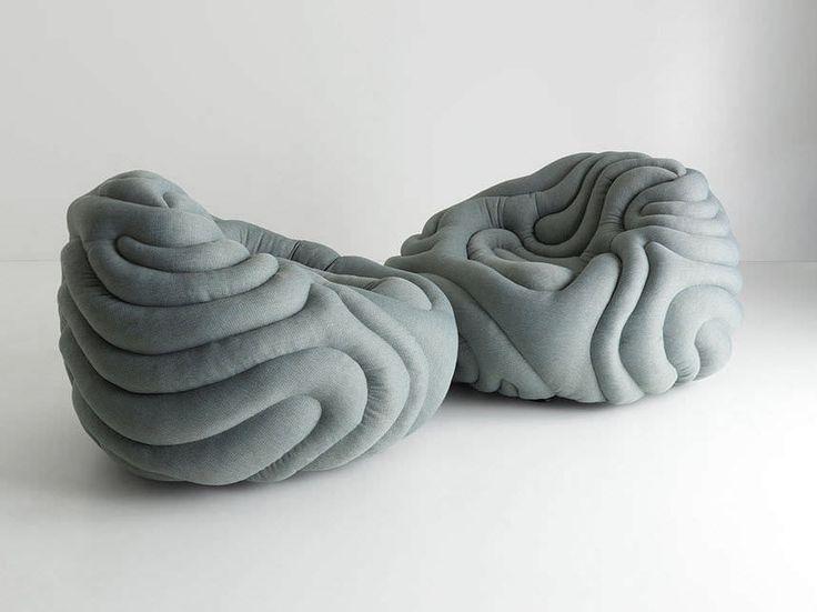 Bean bag armchair / original design / fabric GLADIS LOUNGE Aqua Creations