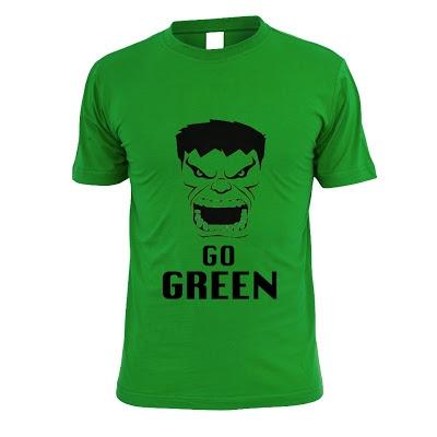 Go Green Hulk T-Shirt. (S M L XL) Order: 087782342244 info@excelcy.com