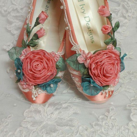 Princess Ballet Slippers Weddings Flower by lambsandivydesigns, $130.00