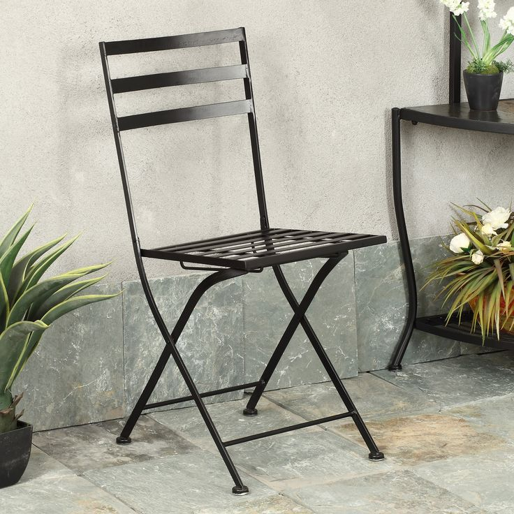 Black Metal Folding Chairs best 25+ black metal chairs ideas on pinterest | industrial dining