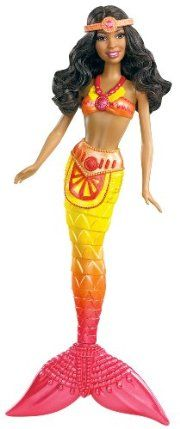 Barbie in A Mermaid Tale 2 African-American Mermaid Doll by Mattel. $11.98. Girls will love playing with them in or out of the water. Girls can recreate their favorite scenes from the new Barbie movie. Color changing features with cold water activation. Features beautifully detailed bodice and exquisite mermaid tail. Based on the Barbie's newest animated movie, Barbie in A Mermaid Tale 2. From the Manufacturer                Barbie in A Mermaid Tale 2 African-America...