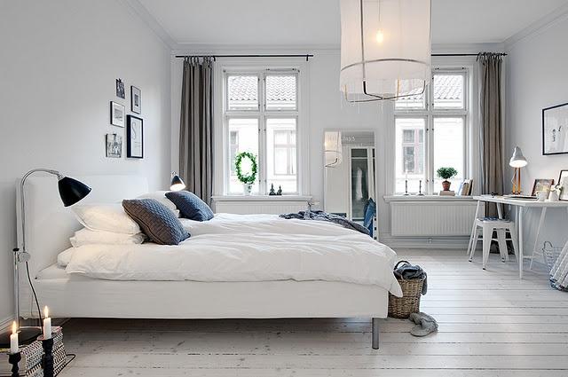white: Decor Ideas, Bedrooms Design, White Rooms, Cars Girls, Scandinavian Bedrooms, White Bedrooms, Window Treatments, Scandinavian Interiors Design, Girls Style