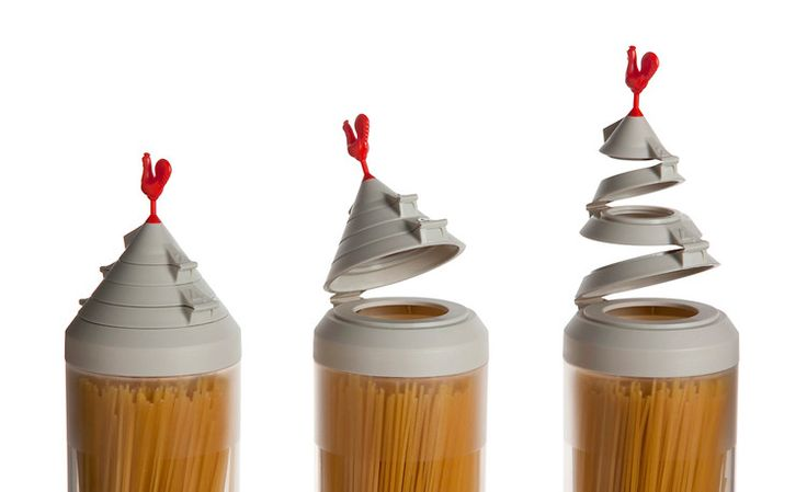 Spaghetti Tower – A spaghetti container with built-In portion controls. Designed by OTOTO. #product #design $23