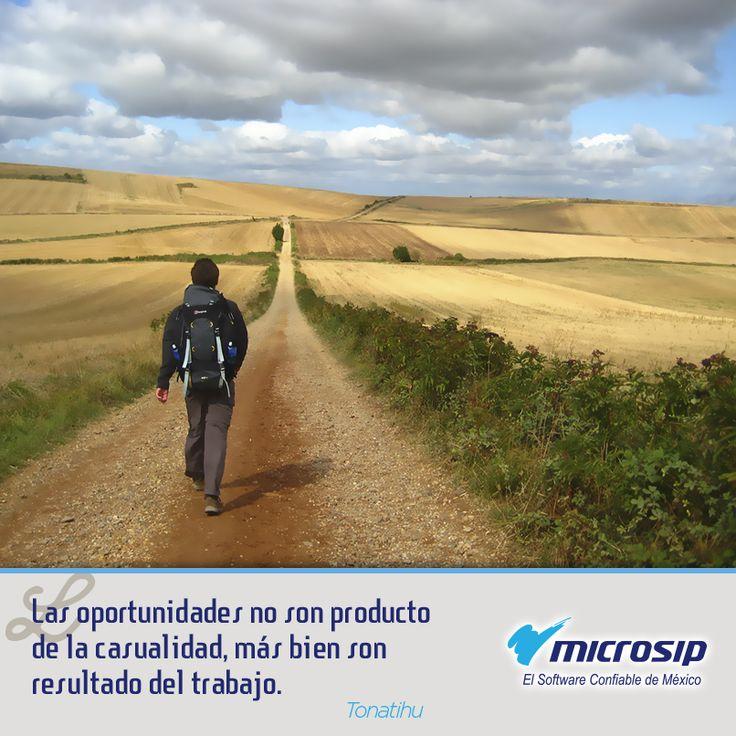 """""""Las oportunidades no son producto de la casualidad, más bien son resultado del trabajo"""" (Tonatihu)"""