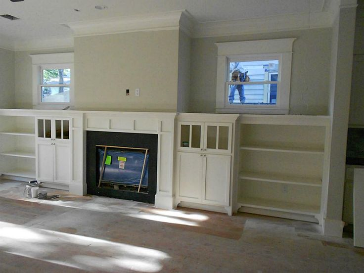 fireplace with built ins for the home pinterest. Black Bedroom Furniture Sets. Home Design Ideas