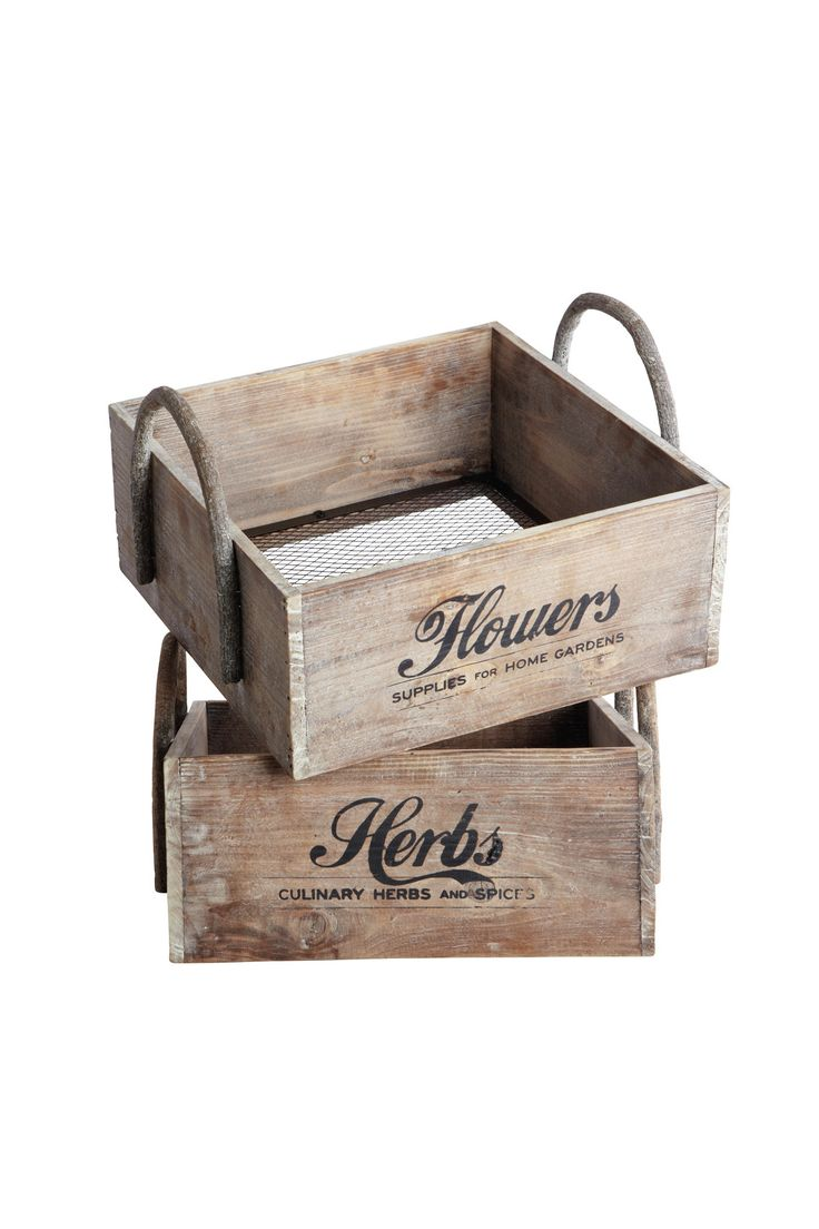 Wooden Herb & Flower Trugs