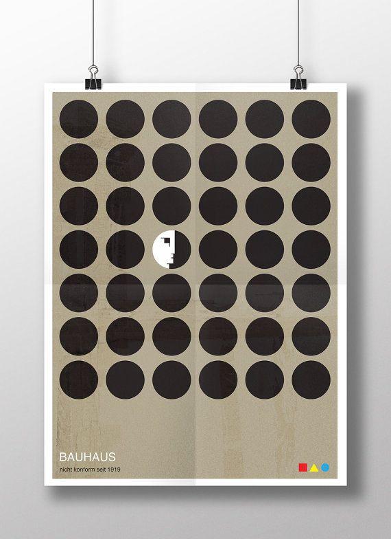 The Non-Conformists - Bauhaus Graphic Art Poster by DELTANOVA
