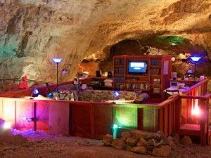 Talk a walk or stay overnight at the Grand Canyon Caverns along Route 66