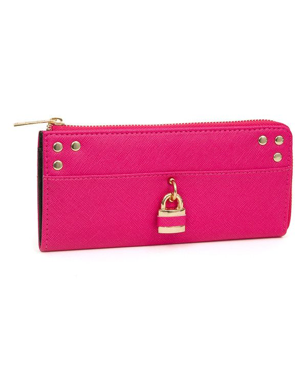 Look at this Fuchsia Lock-Accent Wallet on #zulily today!