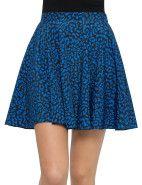 Lover Leopard Mini Skirt $147.00 #davidjones #fashion #style #shop #sale #skirt #print #blue #designer #mini #leopard