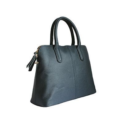 Serafina Italian Navy Leather Dome Handbag - £54.99