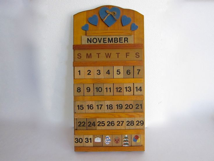 Vintage wooden perpetual wall calendar products vintage and calendar - Wooden perpetual wall calendar ...