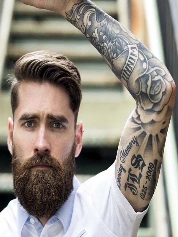 New Style Men Tattoos Designs 2019 Beard Styles For Men Beard No Mustache Beard Styles
