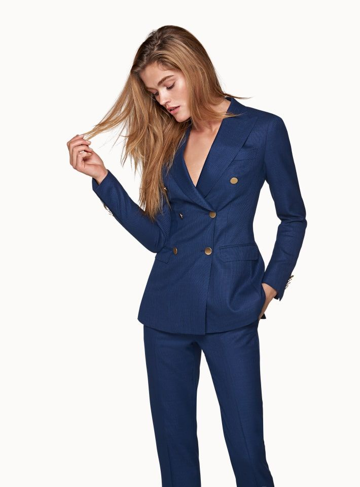 Yuxinfeng Spring Blue Velvet Blazer Women Button Doule Breasted Fashion Elegant Ladies Office Work Suit Blazer Coat Slim Jacket In Short Supply Back To Search Resultswomen's Clothing