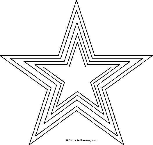 25 best ideas about Star stencil – Star Template