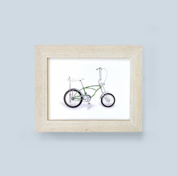 STING-RAY BIKE PRINT - Unframed  Who doesn't love classic bicycles? Crayola…