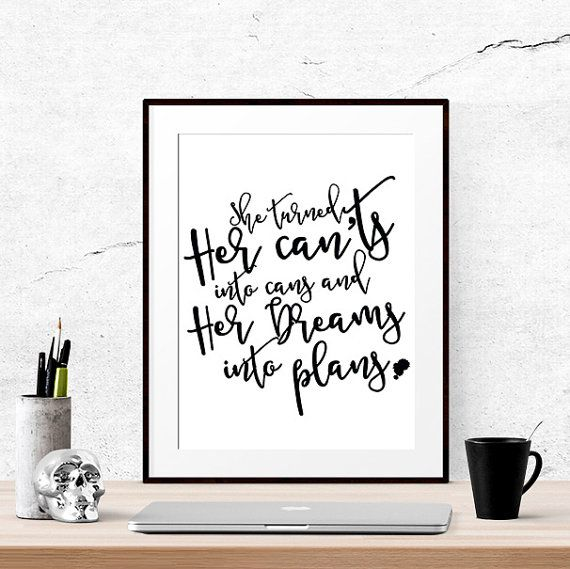 40% OFF Inspirational wall art Printable fonts by LUCIAandLUCIANA