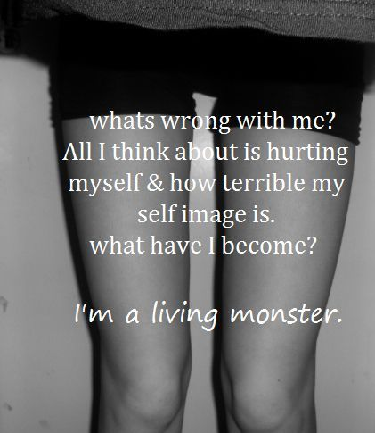 your not a monster. the monsters are the ones who made u feel like this