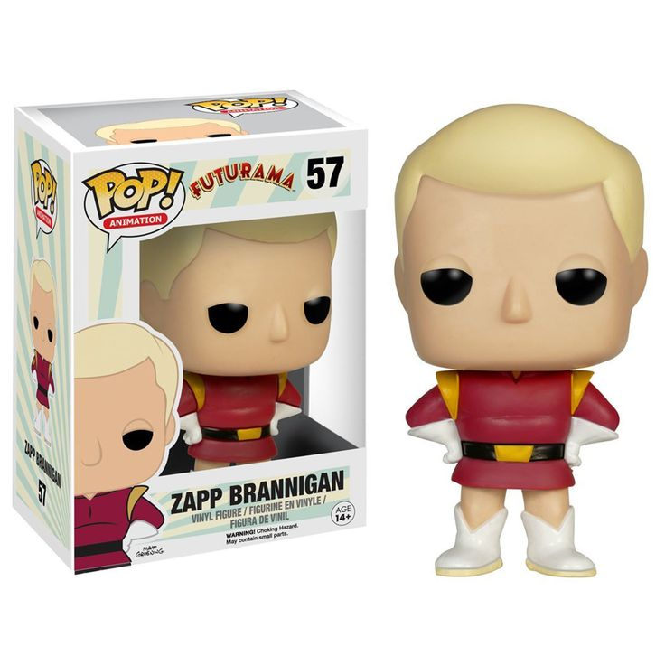 This is a Futurama Zapp Brannigan POP Vinyl Figure that is produced by Funko. The Zapp POP Vinyl figure is part of Funko's Futurama line of character POP Vinyl's and he looks fantastic. Futurama fans