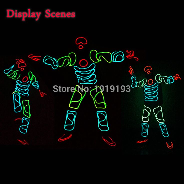 NEW Arrive DIY the Style of The Monkey King LED Suits Light up Hoodie EL wire clothes glowing Costume Diy Parts holiday lighting