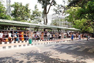 Thousands of devotees on pilgrimage to Sri Venkateswara Swamy Temple, at Tirumala,  standing in on of the several queues to have a glimpse of their favourite deity.