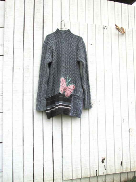 upcycled clothing patchwork sweater dress