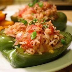Vegetarisch gefüllte Paprika mit Reis und Feta @ http://de.allrecipes.com