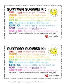 34 best class gift ideas images on pinterest gift ideas presents gift summer survival kit for students negle Images