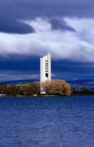 The National Carillon on Lake Burley-Griffin, Canberra Canberra was designed Walter Burley-Griffin.