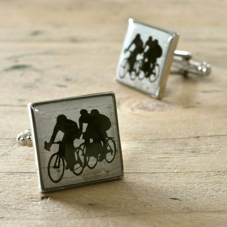 cycling cufflinks by primrose & plum | notonthehighstreet.com