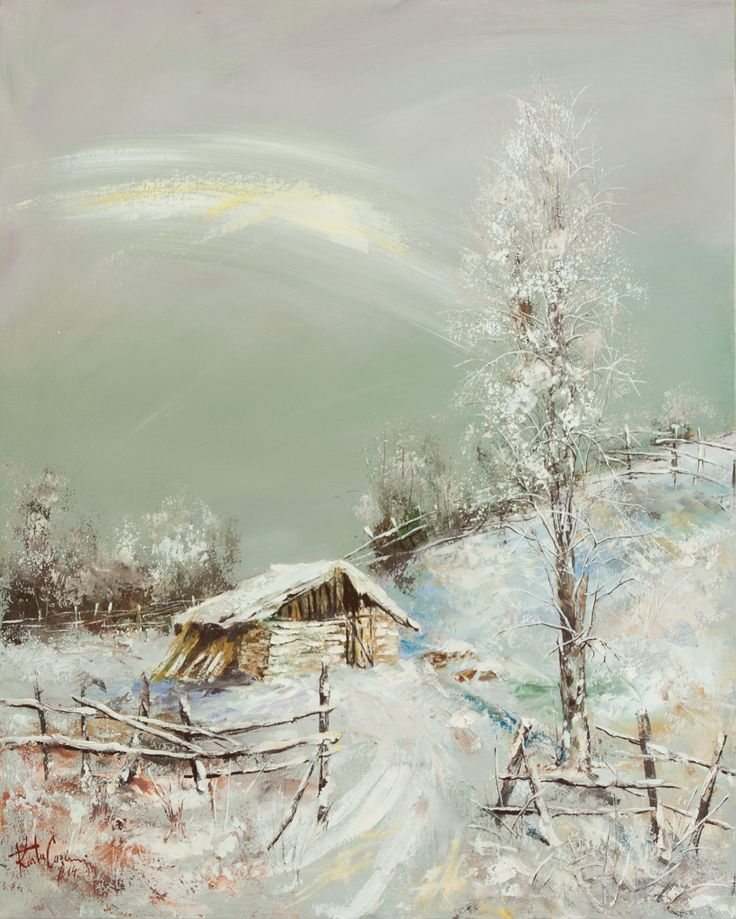 Peisaj de iarna    Téli táj    Winter Landscape    Paesaggio invernale    Winter-Landschaft    Paysage d'hiver     75 / 60 cm     Kurta Cazimir 2014     #painting #oilpainting #winterlandscape #winter #paesaggio    https://www.facebook.com/KurtaCazimir     foto_Kurtha Arpad Cristian    www.kurtaarpadcristian.weebly.com