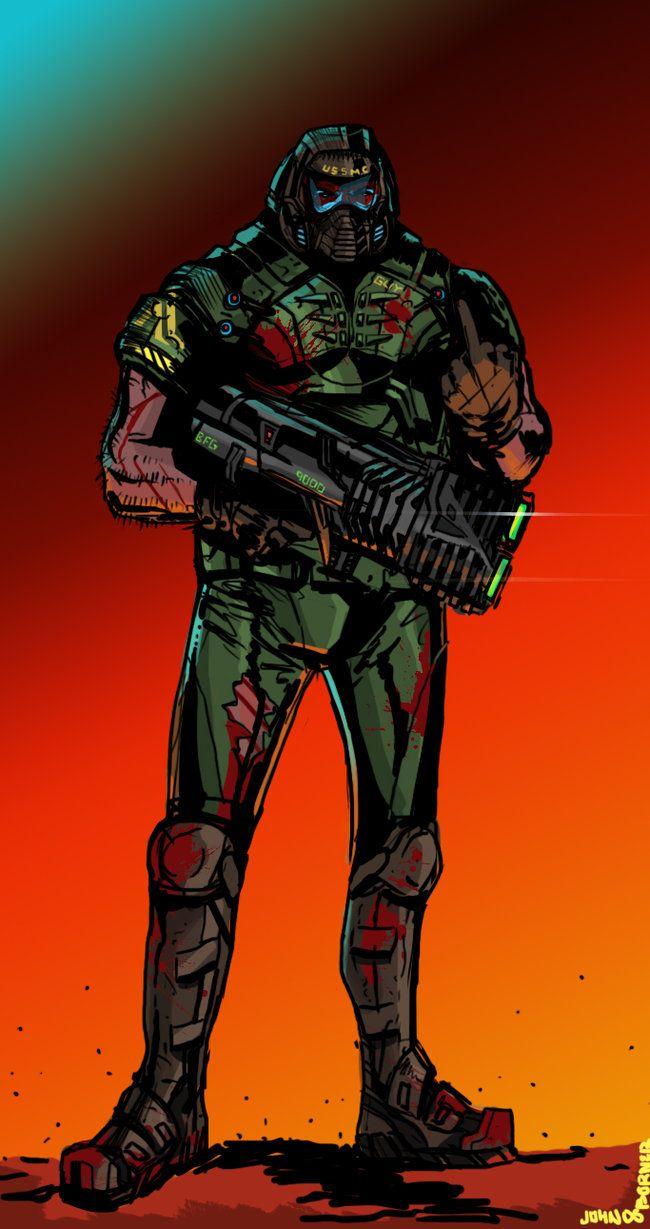 Doom Guy by JohnOsborne on DeviantArt