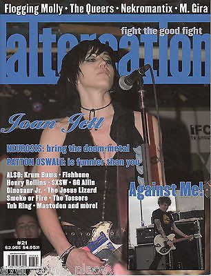 Altercation Issue #21 Joan Jett - Flogging Molly - The Queers - Nekromantix