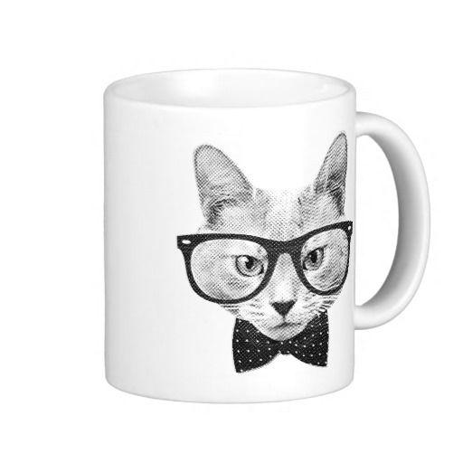 """#Vintage #hipster #cat """"mugs"""