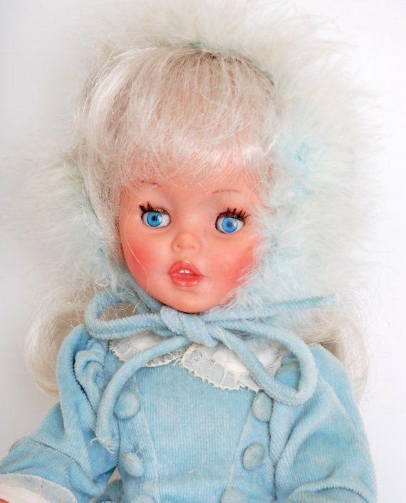 Platinum Blonde Italian Furga Doll (Blue)