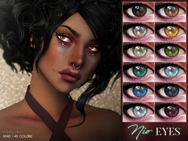The Sims Resource: Nio Eyes N140 by Pralinesims • Sims 4 Downloads