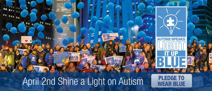 April 2nd, 2016 is World Autism Awareness Day! Pledge to wear blue with Autism Speaks!