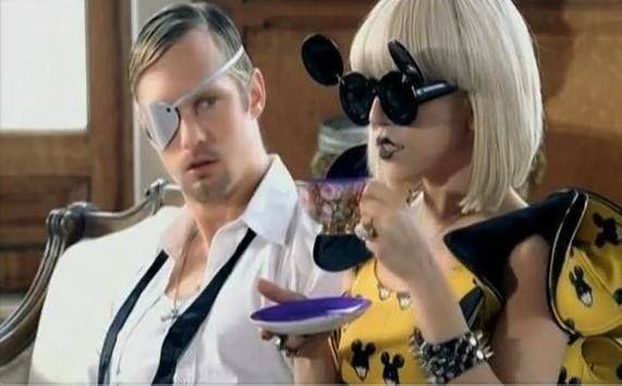 Lady Gaga in Linda Farrow Mickey Mouse shades - now available at Kifissia store!  http://panaidis.gr/page/default.asp?id=23&la=1&ctID=2&mnfID=24  #ladygaga #lindafarrow #mickeymouse #celebrity #panaidiseyewearboutique