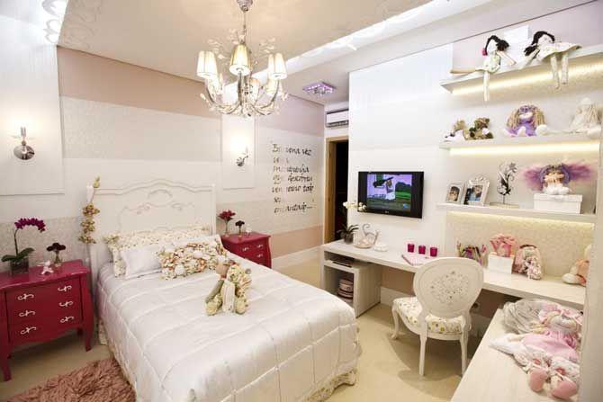 O post de hoje é sobre decoração de quarto de menina, com várias ideias para ajudar integrar o espaço do estudo, lazer, cama, armário, mantendo o lado romântico, delicado e feminino da decoração...