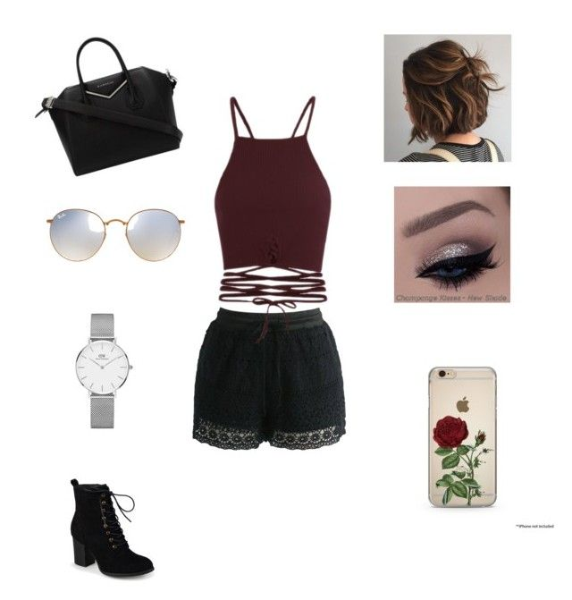 """""""Untitled #48"""" by nat2124 on Polyvore featuring Chicwish, Journee Collection, Givenchy, Ray-Ban and Daniel Wellington"""