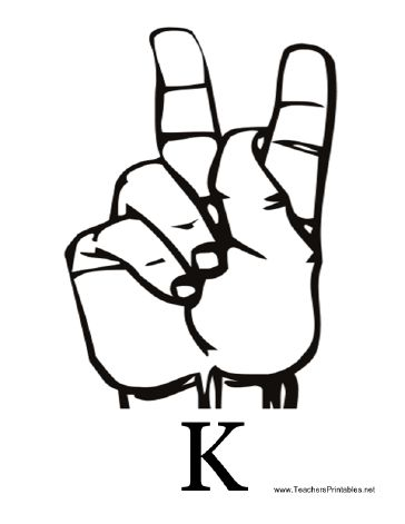Best AslAmerican Sign Language Alphabet Coloring Sheets Images