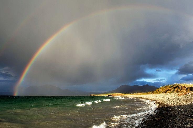 High Tide And Rainbow, Renvyle Strand by Aoife Herriott on ArtClick.ie Photos of Ireland
