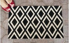 Best Latest Black And White Door Mat 2017