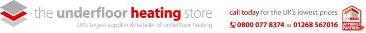Water underfloor heating | Standard room water underfloor heating kit to cover 17m2  £488 with touchscreen
