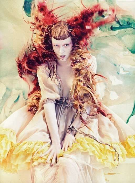 Watercolor Fantasy Couture: 'Pure Wonder' in Vogue Italia