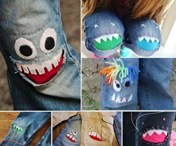 Как сделать красивые заплатки на детские джинсы