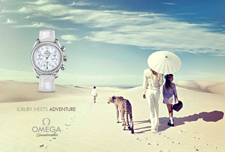 Omega Ad design based on the provided watch. Sourced photography. Original concept.