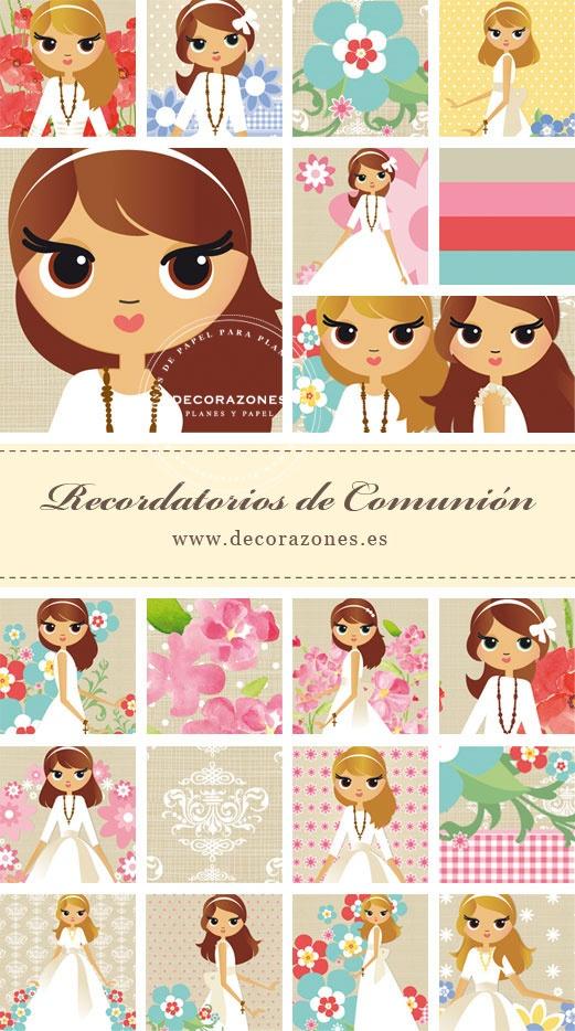 Decorazones.es _Decorazones.es _Para la personalización de nuestros diseños puedes elegir: A. El peinado y color de pelo, y color de ojos: negro, verde, azul o marrones. B. El vestido o traje, A. El fondo, de entre los modelos de nuestra colección de la sección de recordatorios de Primera Comunión que puedes encontrar en nuestra web. #comuniones #RecordatoriosdeComunión #recordatorios #comunión #primeracomunión